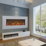 Wall mounted el. fireplaces