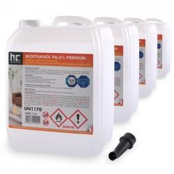 Bioethanol 96,6% Premium for bio fireplace - 5 Liters