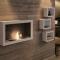 Wall mounted bio fireplace