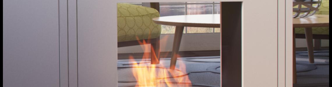 Standing bio fireplaces