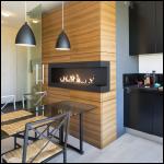 Corner bio fireplace